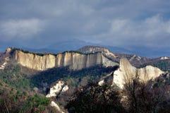 Panorama of Sandy mountain pyramid Royalty Free Stock Photography