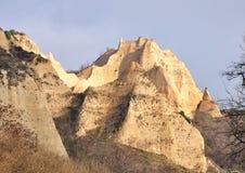 Panorama of Sandy mountain pyramid Stock Photography