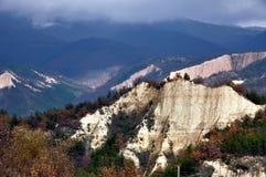 Panorama of Sandy mountain pyramid Stock Photos
