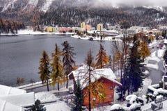Panorama of Sankt Moritz Saint Moritz, San Maurizio town in En