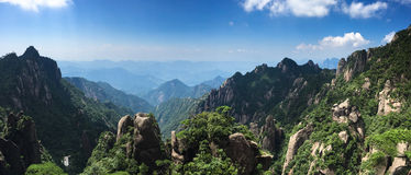 Panorama of Sanqingshan Mountains Stock Photography