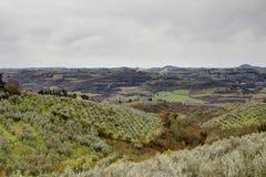 Panorama Sans Casciano in Toskana, Italien stockfoto