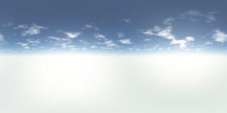 Panorama sans couture de 360 cieux illustration stock