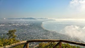 Panorama Sans Felice Circeo Lizenzfreies Stockfoto