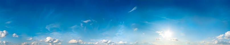 Panorama sans joint de ciel Image libre de droits