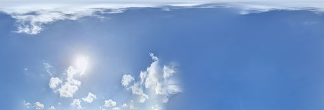 Panorama sans joint de ciel 360 degrés Images libres de droits