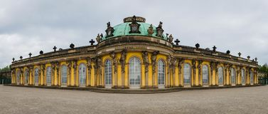Panorama of Sanssouci Palace in Potsdam royalty free stock photography