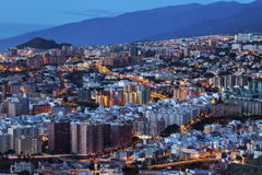 Panorama of Santa Cruz de Tenerife Royalty Free Stock Image