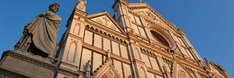 panorama- santa för basilicacroce sikt Arkivbilder