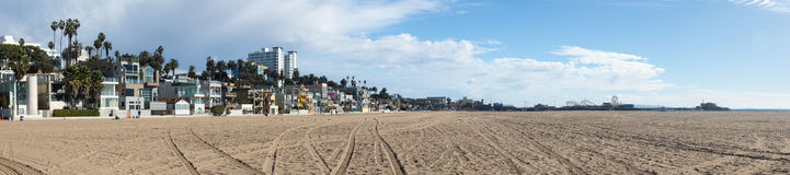 Panorama Santa Monica beach CA Royalty Free Stock Photography