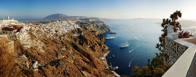 Panorama of Santorini Stock Images