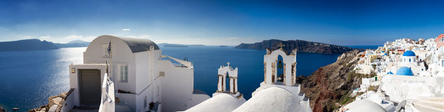 Panorama of Santorini Royalty Free Stock Photos