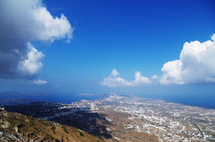 Panorama. The panorama of santorini in greece Stock Photos