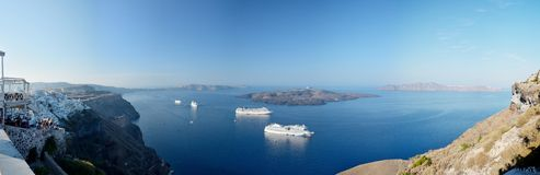 Panorama of Santorini, Greece Stock Photos