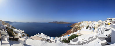 Panorama of Santorini island Stock Photo