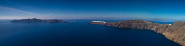 Panorama of the Santorini volcano Royalty Free Stock Photography