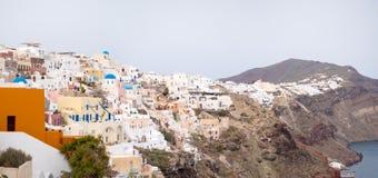 panorama- santorinisikt för ö Royaltyfri Bild
