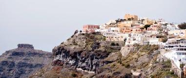 panorama- santorinisikt för ö Arkivbild