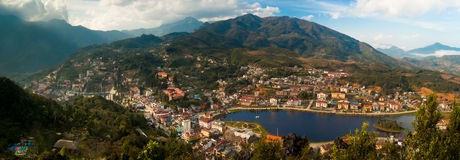 Panorama of Sapa Town Royalty Free Stock Photography