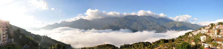 Panorama of Sapa, Vietnam Royalty Free Stock Photo