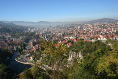 Panorama of Sarajevo Stock Photo