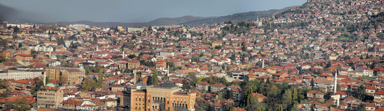 Panorama of Sarajevo Stock Photos