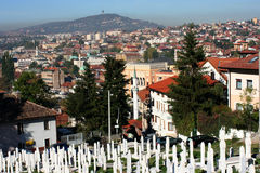 Panorama of Sarajevo old town Royalty Free Stock Photography