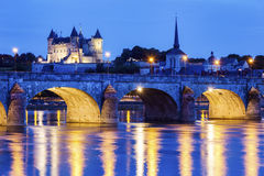 Panorama of Saumur royalty free stock image