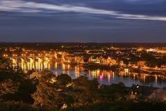 Panorama of Saumur Stock Images