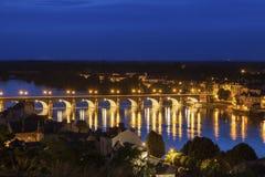 Panorama of Saumur Stock Photography