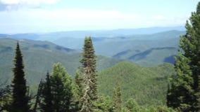 Panorama of the Sayan Mountains. Royalty Free Stock Photos