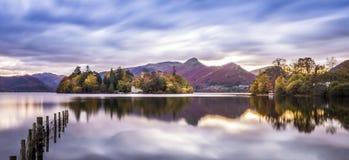 Panorama sbalorditivo nel lago district fotografia stock