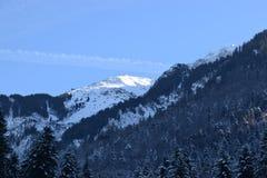 Panorama sbalorditivo sopra le alpi svizzere Immagine Stock