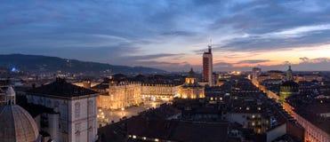 Panorama scénique de définition élevée de Turin Torino Images stock
