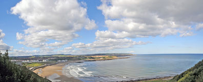 Panorama of the scarborough coast Stock Photography