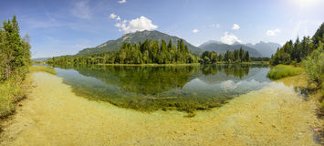 Panorama scene in Bavaria with river Royalty Free Stock Image