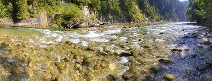 Panorama scene in Bavaria with river Royalty Free Stock Photography
