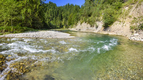 Panorama scene in Bavaria with river Stock Photography