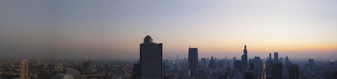 Panorama scene of urban building of bangkok capital  thailand la Stock Photography