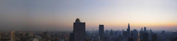 Panorama scene of urban building of bangkok capital  thailand la Stock Photography