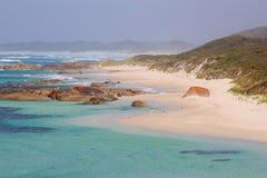 Panorama of scenic beaches and coastline along the ocean, Denmark, Western Australia Royalty Free Stock Photos