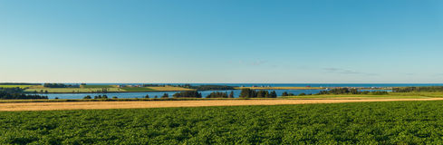 Panorama of scenic view of Point East Coastal Drive Royalty Free Stock Photo