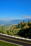 Panorama scenico dalla strada principale Fotografia Stock Libera da Diritti