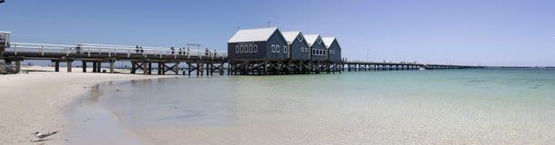 Panorama scenico del molo Australia ad ovest di Busselton immagine stock libera da diritti