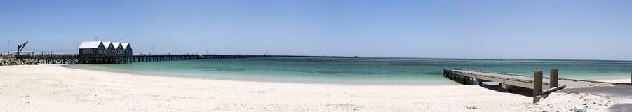 Panorama scenico del molo Australia ad ovest di Busselton fotografia stock libera da diritti