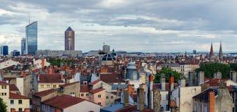 Panorama scenico di alta definizione di Lione Francia Immagine Stock