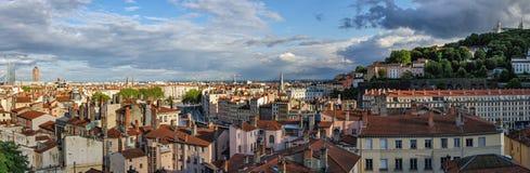 Panorama scenico di alta definizione di Lione Francia Immagine Stock Libera da Diritti