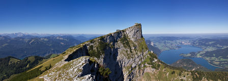 Panorama of the Schafberg mountain Stock Photos