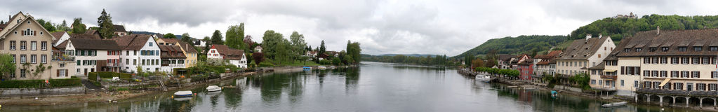Panorama of Schaffhausen Royalty Free Stock Photo