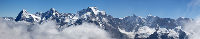Panorama from Schilthorn Stock Images